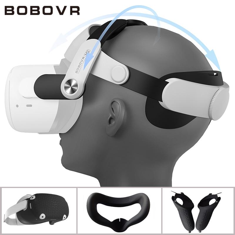 BOBOVR M2 Strap F2 For Oculus Quest 2 Fan Lens No Fog Halo Strap Protective C2 Case Handle Cover For Oculus Quest2 Accessoires