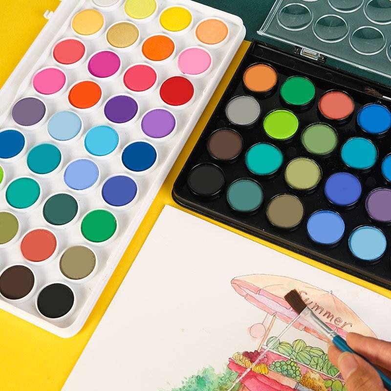2021 Новинка однотонная Акварельная 36-цветная гуашь краска ручная роспись граффити пудра краска художественные принадлежности для художник...