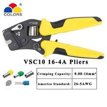 HSC10 16-4A mini-type pince à sertir auto-réglable multi-outil type de boîtier pince spéciale 0.25-16mm VSC10 16-4a outils de sertissage