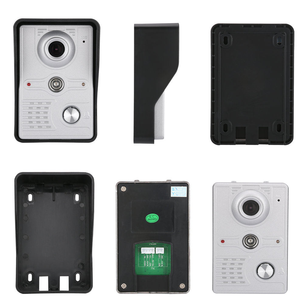 7 Inch Record Wireless WiFi Video Door Phone Intercom System with 1000TVL Wired Doorbell Camera,Support Remote unlock enlarge