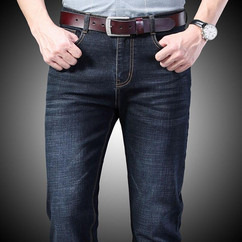 Джинсы мужские зауженные, брюки из денима Spijkerbroeken Heren, байкерские штаны-стрейч, повседневные потертые, черные, синие