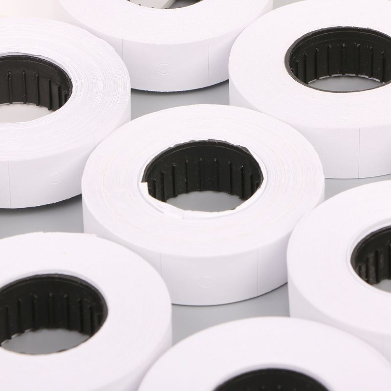 2021 Hot Sale 10 Rolls Price Label Paper Refill Tag Mark Sticker Double Row For MX-6600 Labeller