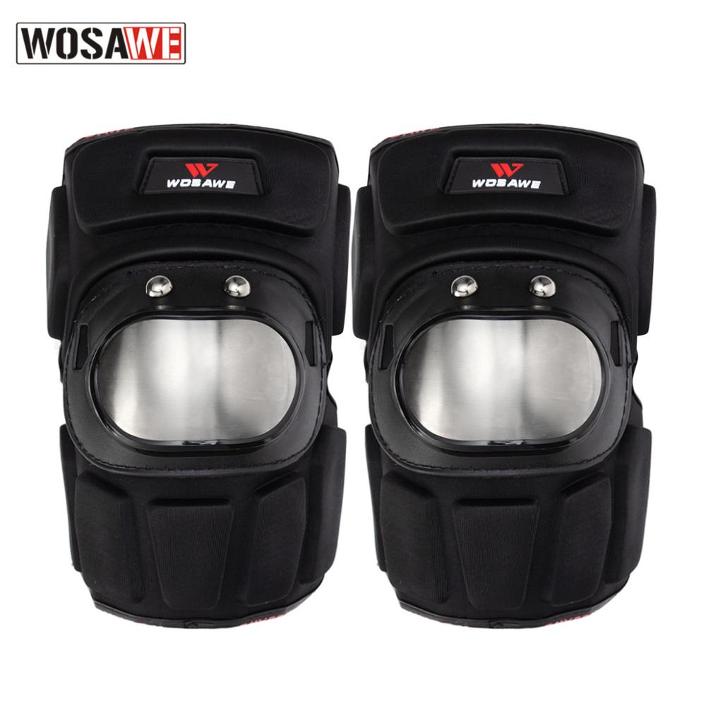 WOSAWE 2Pcs/Set Motorcycle Elbowpad Stainless Steel Moto Elbow Pads Motocross Racing Protective Gear Protector Guards Kit enlarge