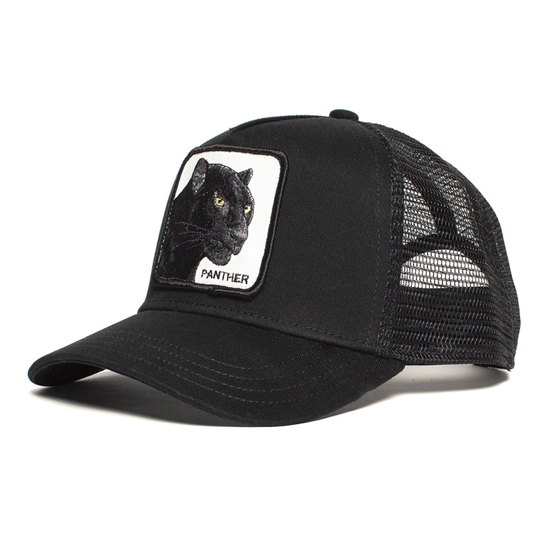 2021 Black Leopard Bison New Baseball Cap Animal Exquisite Embroidery Anime Cute 63 Animals Summer Mesh Sunshade hats