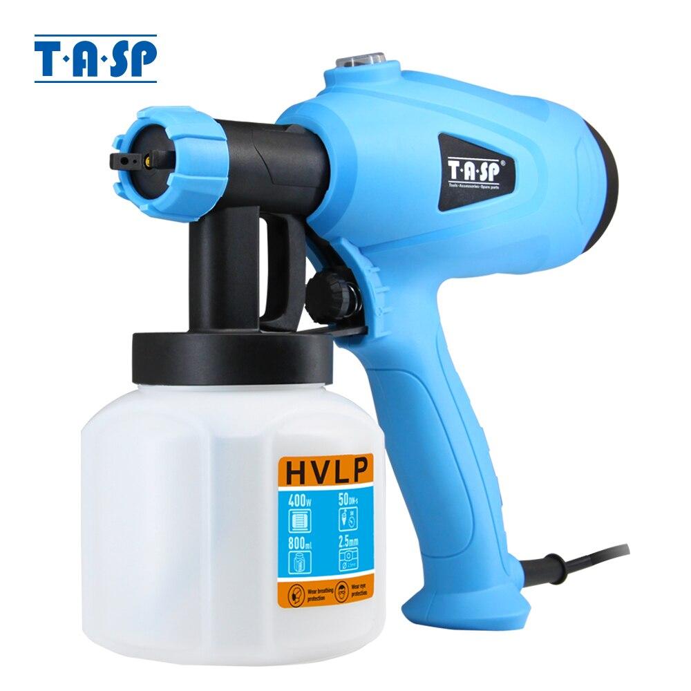 TASP 120V/230V 400W pistola eléctrica pulverizador de pintura HVLP herramientas de pintura compresor con Control de Flujo ajustable y colador