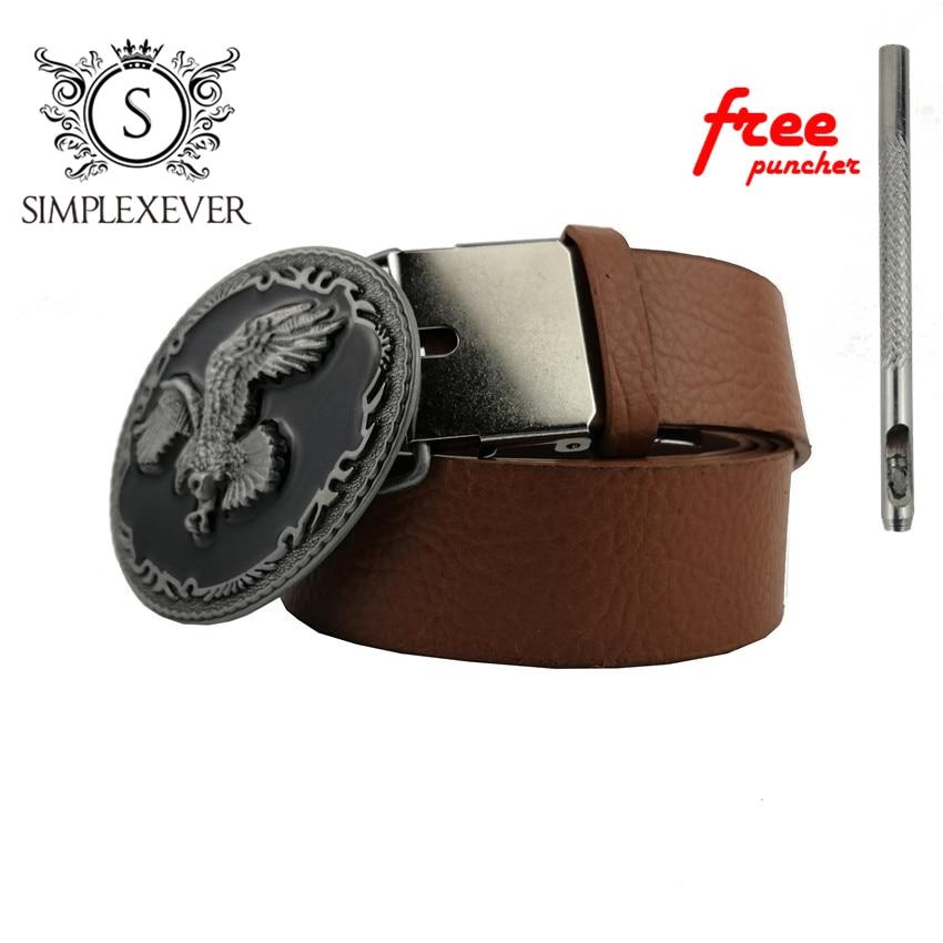 Cool 3D Silver Eagle Cowboy Belt Buckle for Oval Metal Men Buckles Accessories Fit 4cm Wide