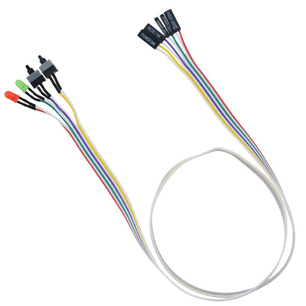68 см тонкий ATX PC Compute материнская плата кабель питания оригинальный вкл/выкл/Сброс со светодиодный светильник PC выключатель питания кнопочный переключатель