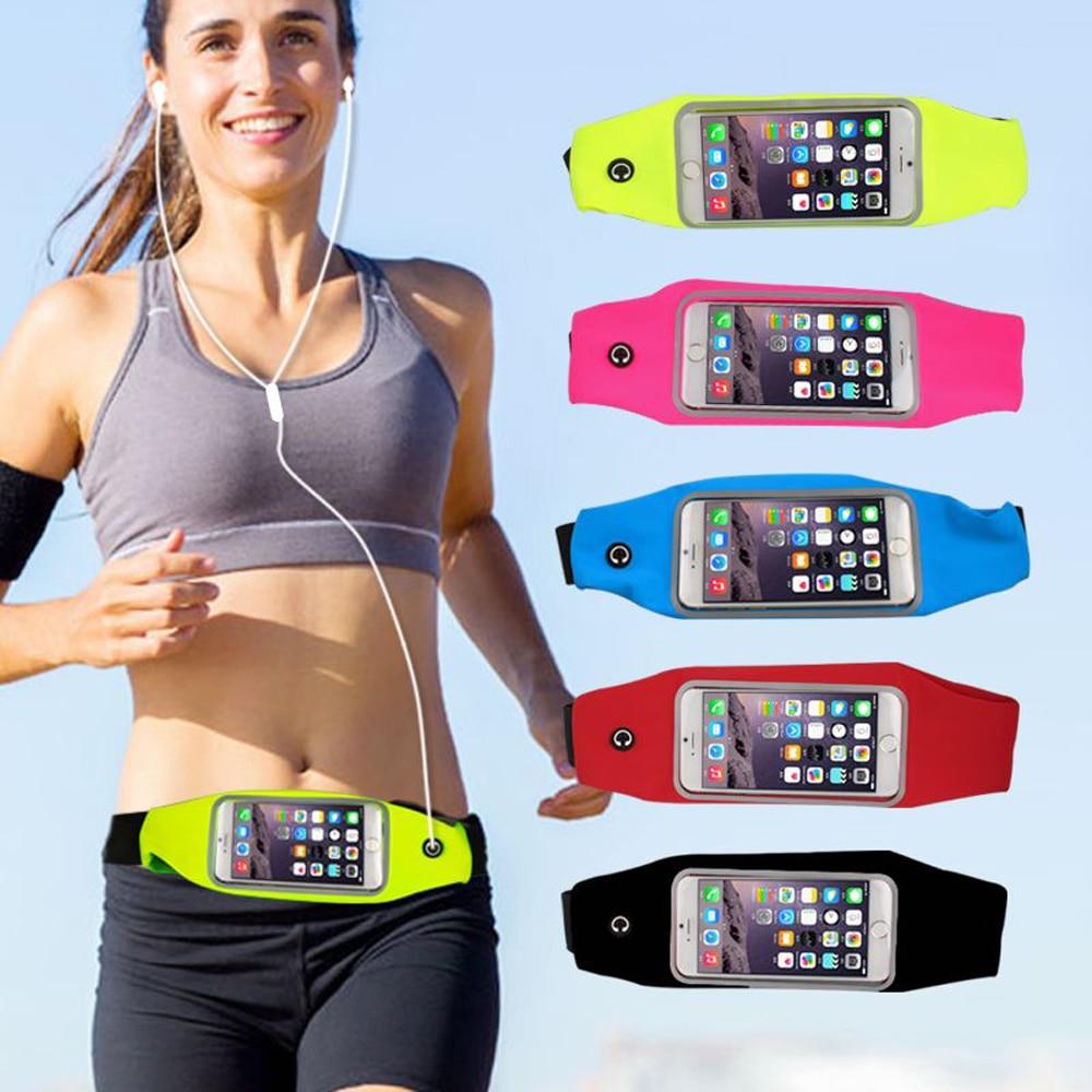 Impermeable deporte gimnasio riñonera para iPhone 6 Plus para Samsung Galaxy S7 borde S6 Edge Plus A7 A8 A9 bolsa para correr al