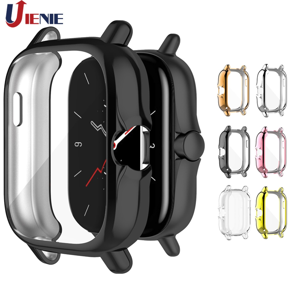 For Huami Amazfit gts 2 2e GTS2 TPU Watch Case Cover Smart Bracelet Protective Frame Shell Replacement Shockproof Clear Cases