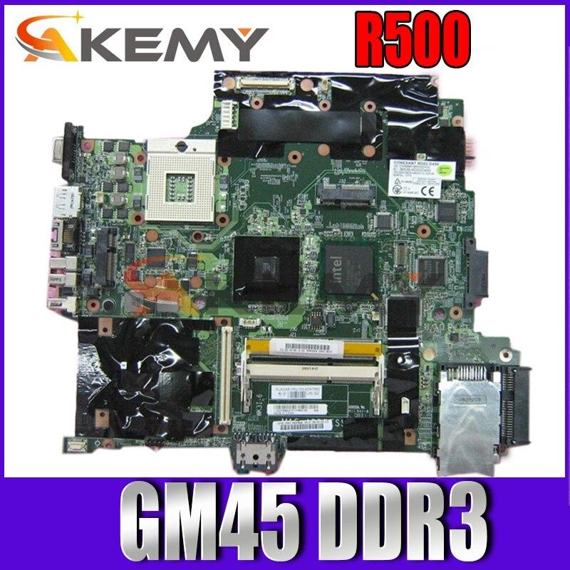 Akemy لينوفو ثينك باد R500 اللوحة الأم لأجهزة الكمبيوتر المحمول 42W7982 45N4476 15 بوصة اللوحة الرئيسية GM45 DDR3 وحدة المعالجة المركزية الحرة