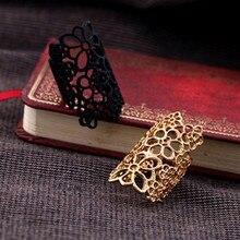 Neue Mode Charming Finger Rüstung Joint Knuckle Aushöhlen Blumen Ringe Für Frauen Böhmischen Freundschaft Gold Schwarz Finger Schmuck