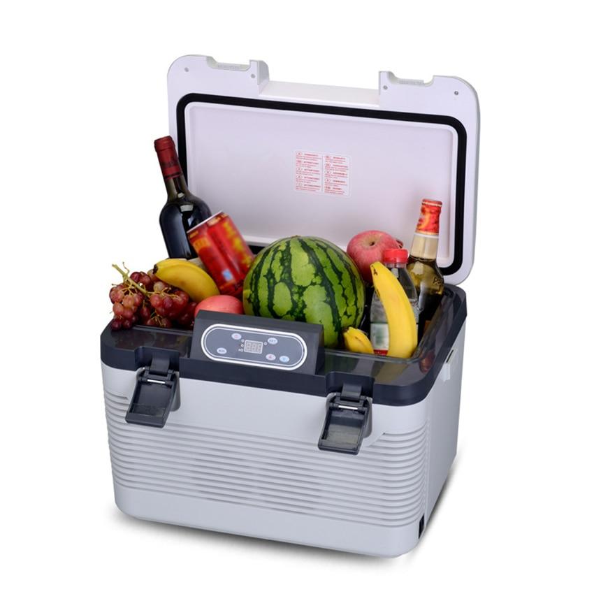 19L Home Car Refrigerator Freeze Heating Dual Purpose Mini Fridge Cooler DC12-24V/AC220V Small Compressor Refrigerator Fast Cool