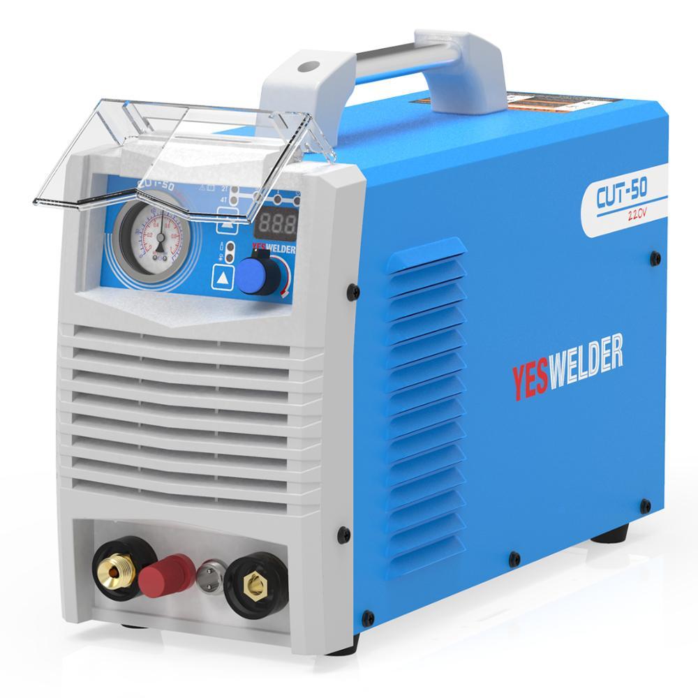 YESWELDER cortou-50/60 plasma máquina de corte dc monofásica 220 v 50 ampères/60 ampères inversor plasma cortador 20mm espessura de corte máxima