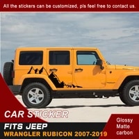 car stickers 2 pcs protect scratch side body graphic vinyls car accessories decals fit for jeep wrangler rubicon sport sahar