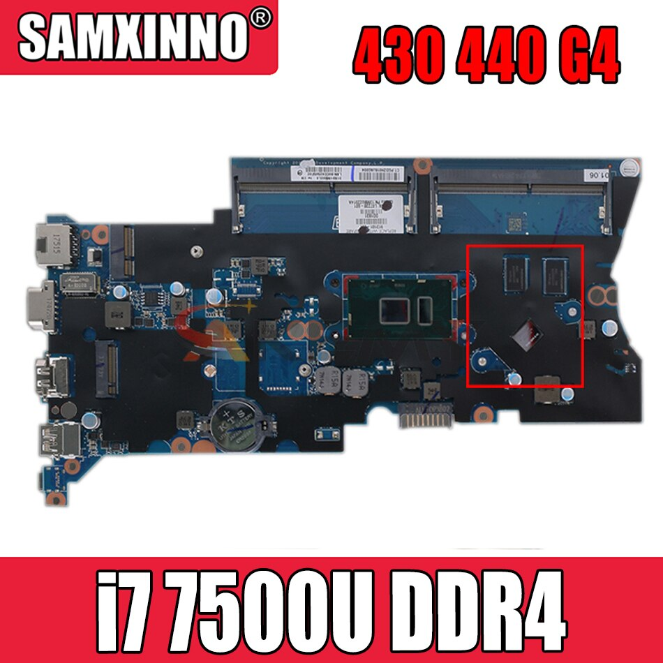DA0X81MB6E0 905797-601 905797-001 ل HP ProBook 430 440 G4 دفتر اللوحة وحدة المعالجة المركزية i7 7500U DDR4 100% اختبار العمل