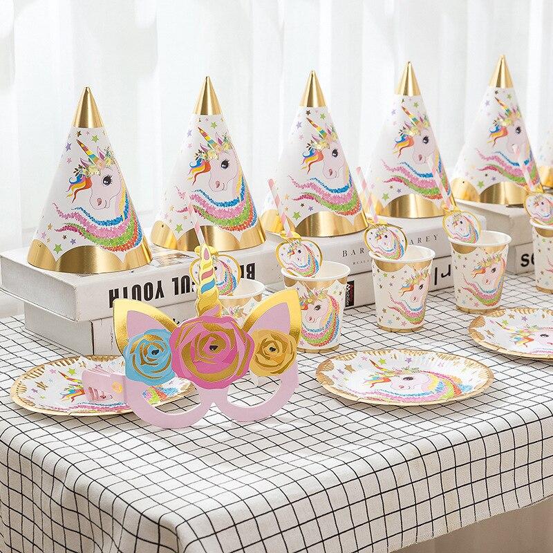 36 штук украшения на день рождения, единорог, товары вечерние, набор одноразовой посуды, украшение для будущей мамы, день рождения девочки