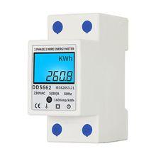 Compteur dénergie monophasé de compteur de consommation dénergie numérique daffichage à cristaux liquides Watt kWh 230V livraison directe à ca