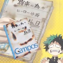 Anime My Hero Academia Midoriya Izuku All Might Signature Diary Book Notebook Cosplay Writing Book Stationery Prop
