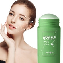 Green Tea Cleansing Mask Purifying Clay Stick Mask Oil Control Skin Cleansing Care Anti-Acne Eggplan