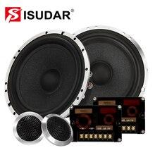 ISUDAR SU602 6,5 дюймов Автомобильный компонент Динамик Системы 2 Way Авто аудио hi fi стерео Динамик s комплект твитер кроссовер Алюминий рамка