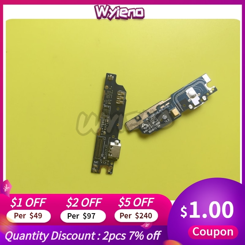 Puerto de carga Wyieno para blu Bold Like US Cargador Micro USB conector reemplazo de cable flexible Mic Tarjeta de micrófono + seguimiento