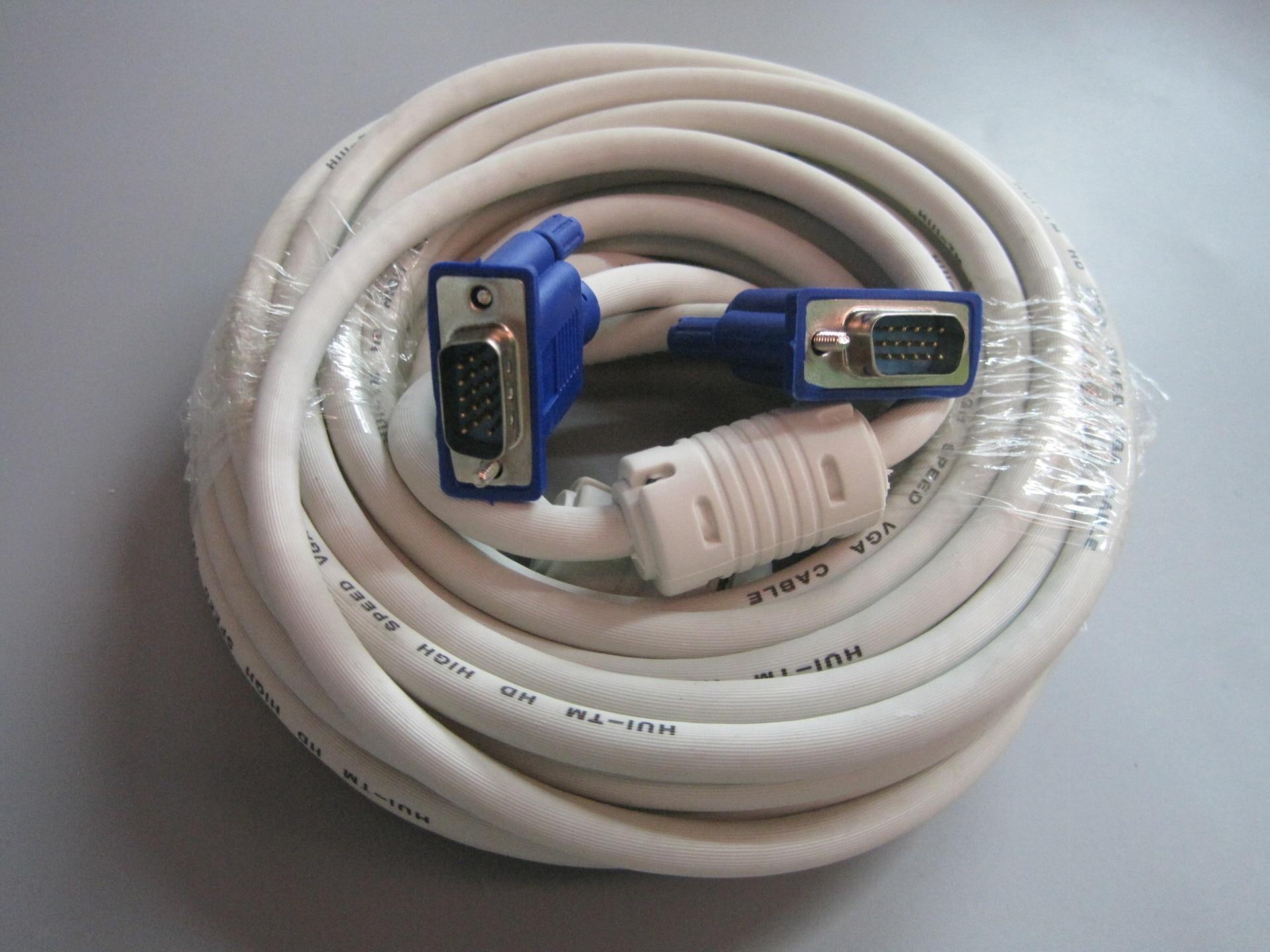 2019 Novo 1,8 M Cabo HDMI Macho Para VGA Adaptador 15Pin Cable1080P...