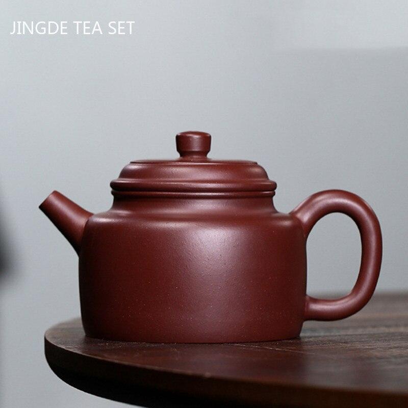Yixing Tea Pots Raw Ore Handmade Purple Clay Teapot Beauty Kettle Teaware Tie Guanyin Chinese Tea Ceremony Drinkware 190ml