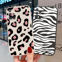 phone case for samsung a51 a32 a50 a12 a52 a21s a31 a42 a72 a30 a71 funda samsung s21 ultra camera protection leopard tpu cover