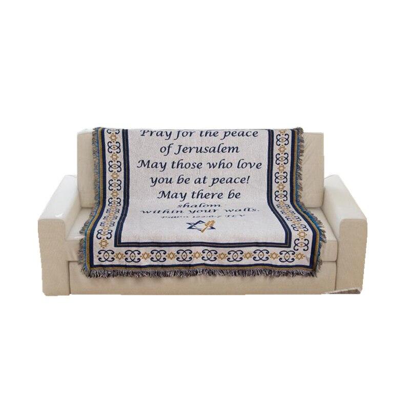 الصلاة بطانية السجاد نسيج أريكة متماسكة رمي منشفة المسيحية هدية غرف معيشة بطانية سرير الشرق الأوسط بطانية الزخرفية