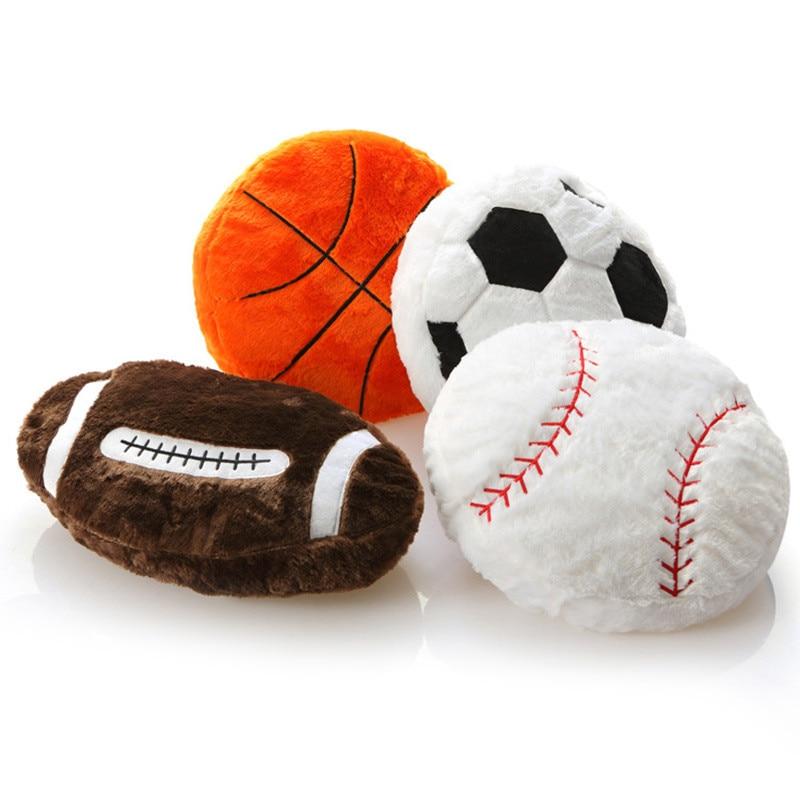 Подушка для баскетбола, регби, футбола, плюшевый мяч