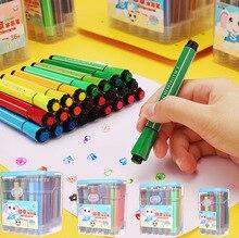 Stylos marqueurs avec brosse à aquarelle pour sceau, 12/18/24/36 couleurs, fournitures dart à dessiner, papeterie pour enfants, 04374