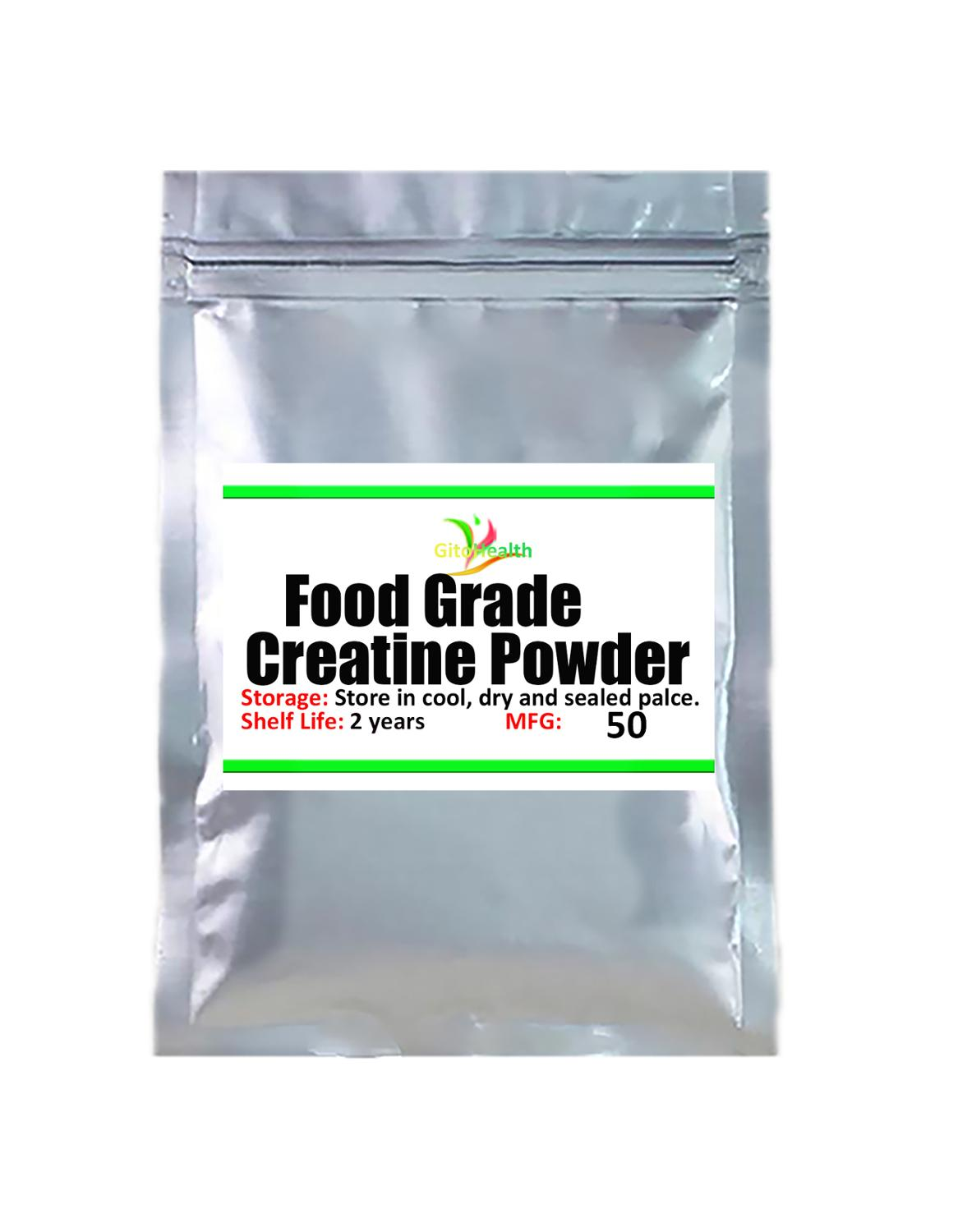 50g-1000g Food Grade 99% creatine powder, fast muscle mass growth supplement add more muscle - suitable for all bodybuilding sup
