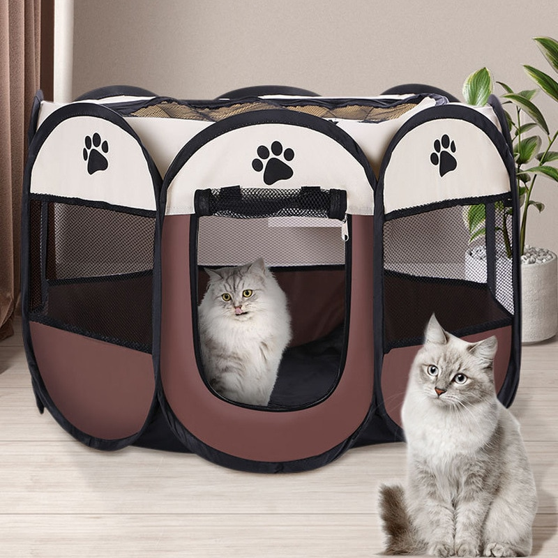 Tienda octogonal Para mascotas, cama Para gatos, casa Para perro, entrega rápida,...