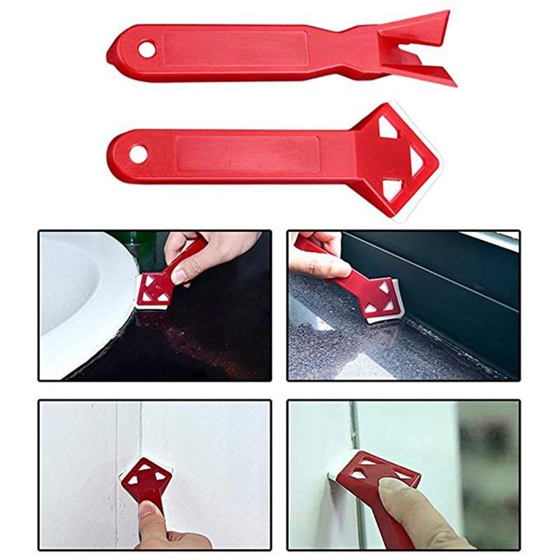 2Pcs/Set Plastic Shovel Cement Scraper Tool Caulking Sealant Finishing Grout Floor Cleaning Tile Dirt Tool Spatula Glue Shovel