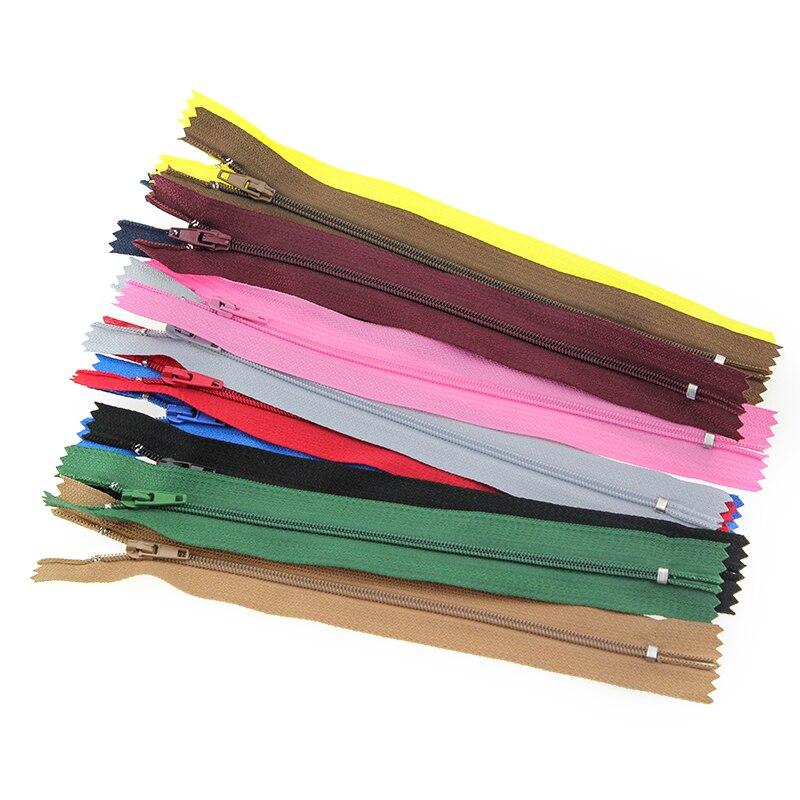 10 Uds 3 #18/20/25 cm Cremallera de nailon para coser cerrar-cremalleras