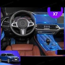 Lsrtw2017 Film de protection pour Bmw X5 X6   Autocollant de commande centrale du panneau dengrenage intérieure de voiture, pour Bmw F15 F16 G05 G06 G07
