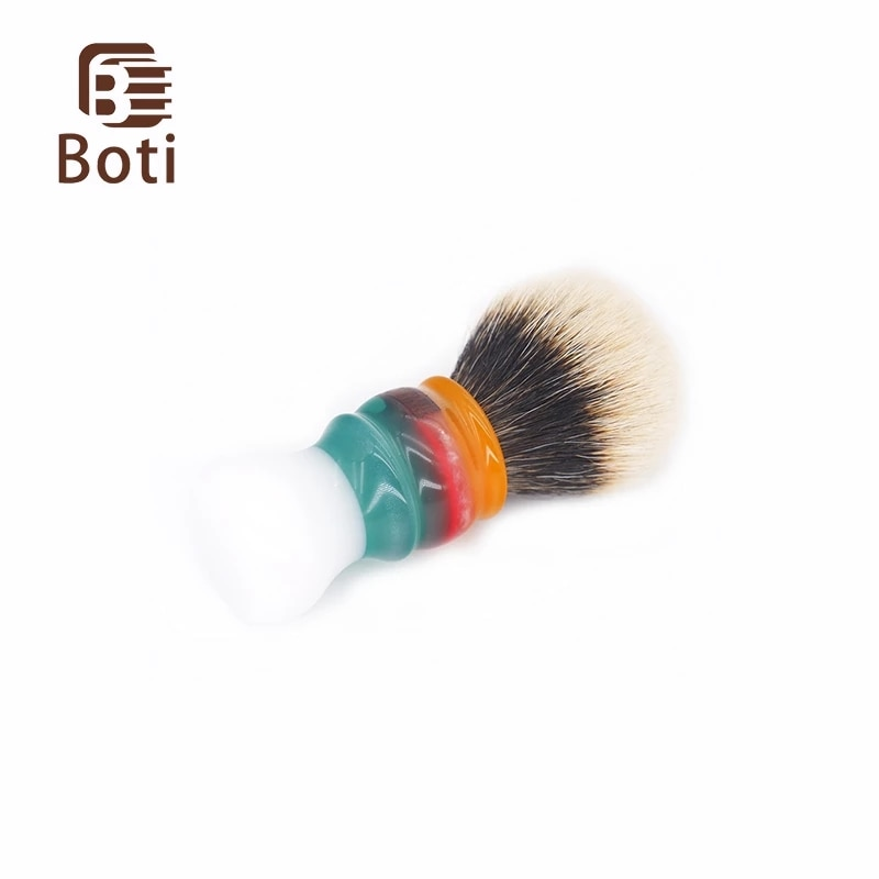 Boti Beard Brush New Jam On The White Clouds Handle And Bulb Shape NC Chubby Finest Two Band Badger Hair Knot Great Gift For Men