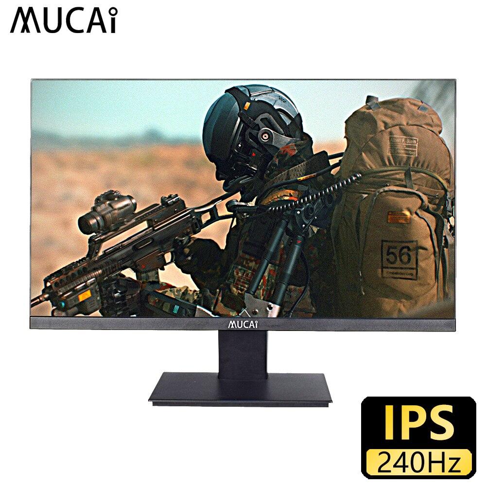 MUCAI 25 بوصة الكمبيوتر 240 هرتز رصد كمبيوتر مكتبي شاشة الكريستال السائل ألعاب HD لوحة مسطحة HDMI/DP
