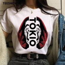 Money Heist women t shirt  Print La Casa De Papel white t shirt funny top tee new women clothes t-shirt fashion female summer