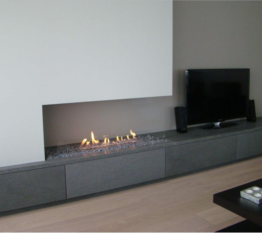 Gran oferta chimenea colgante de 48 pulgadas quemador de madera bioetanol inteligente