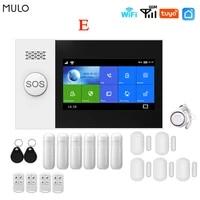 MULO     systeme dalarme de porte  wi-fi  GSM  ecran IPS de 4 3 pouces  pour maison  appartement  entreprise  Tuya Smart Home  controle avec application  PG107
