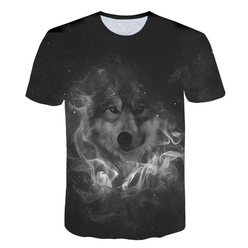Newest Novelt Wolf 3D Print Animal Cool Funny T-Shirt Men Short Sleeve Summer O-neck Tops T Shirt Male Fashion T-shirt Male 5XL