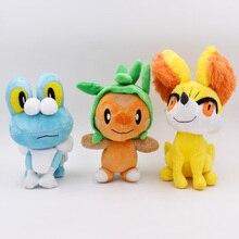 Takara Tomy Pokemon Peluche 3 style/ensemble Peluche Chespin Fennekin Froakie Anime jouet doux en Peluche poupée pour enfants cadeau danniversaire