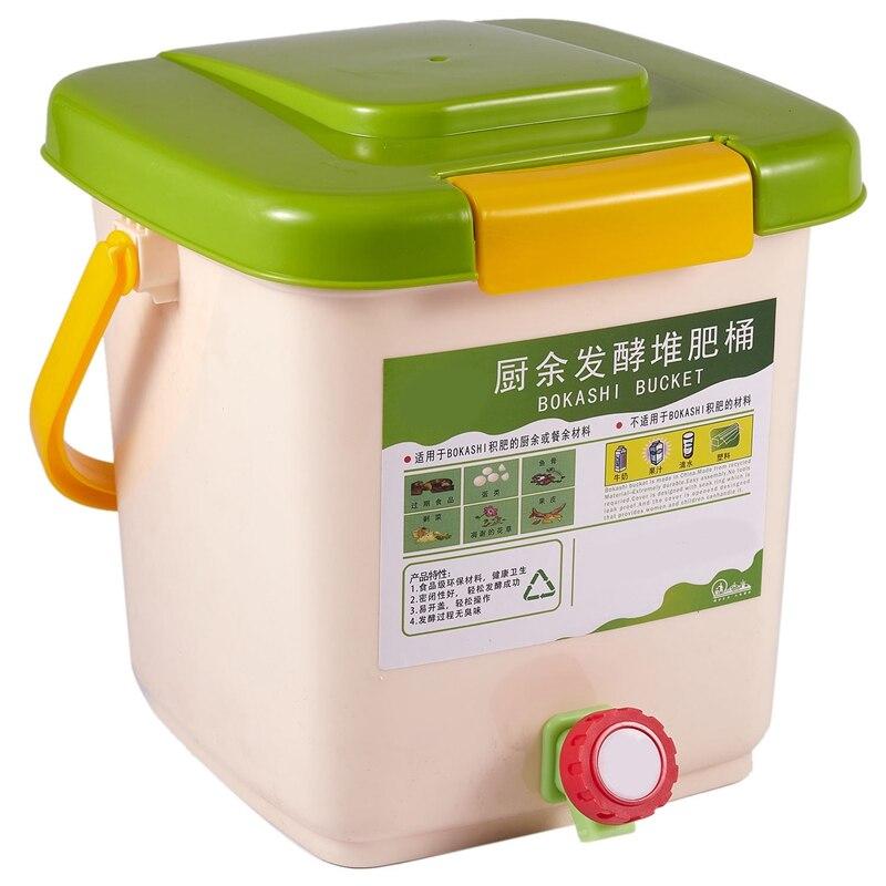 Papelera de Compost de NEW-12L, papelera de Compost aireada, cubo de basura orgánico casero PP, Cubo de cocina, contenedores de basura de comida de jardín