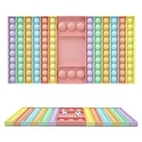 new hot big game rainbow chess board push bubble pop its fidget sensory toys stress relief simple dimple interactive party game