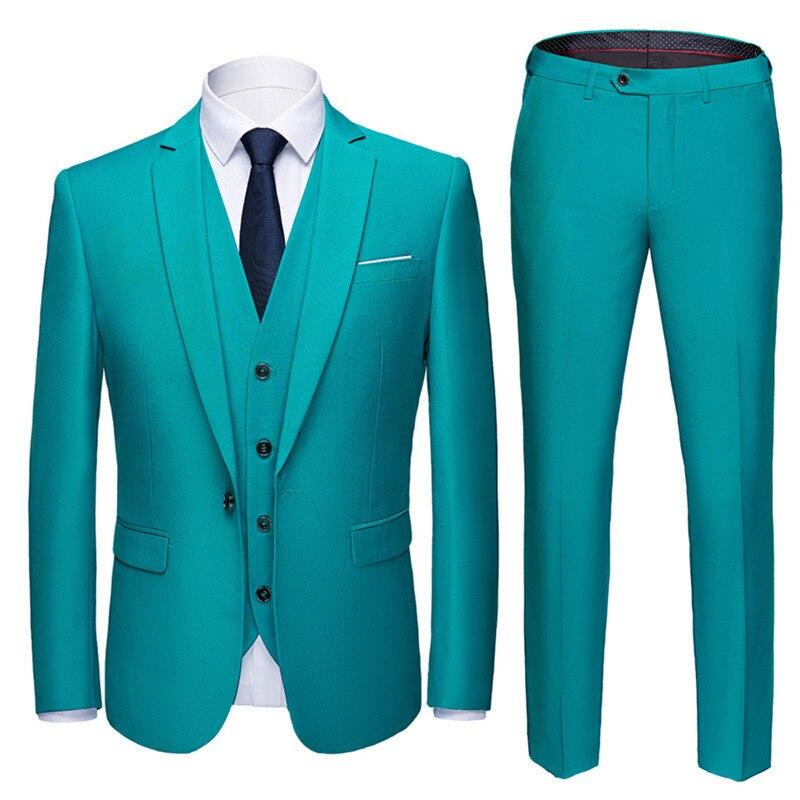 (Блейзер + брюки + жилет) 2021 высококачественный индивидуальный деловой женский костюм, мужское повседневное свадебное платье-смокинг, мужск...