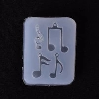 200pcs musical note pendant silicone mold resin jewelry fondant cake diy mould tools