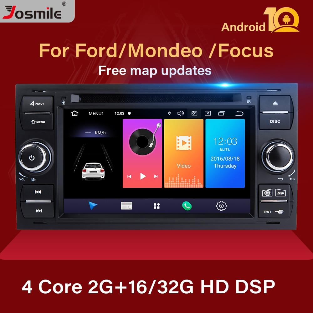 2 din Android 10 Radio del coche para Ford Focus 2 3 mk2 Mondeo 4 Kuga Fiesta Transit Connect S-CMAX Multimedia GPS Navigationhead unidad
