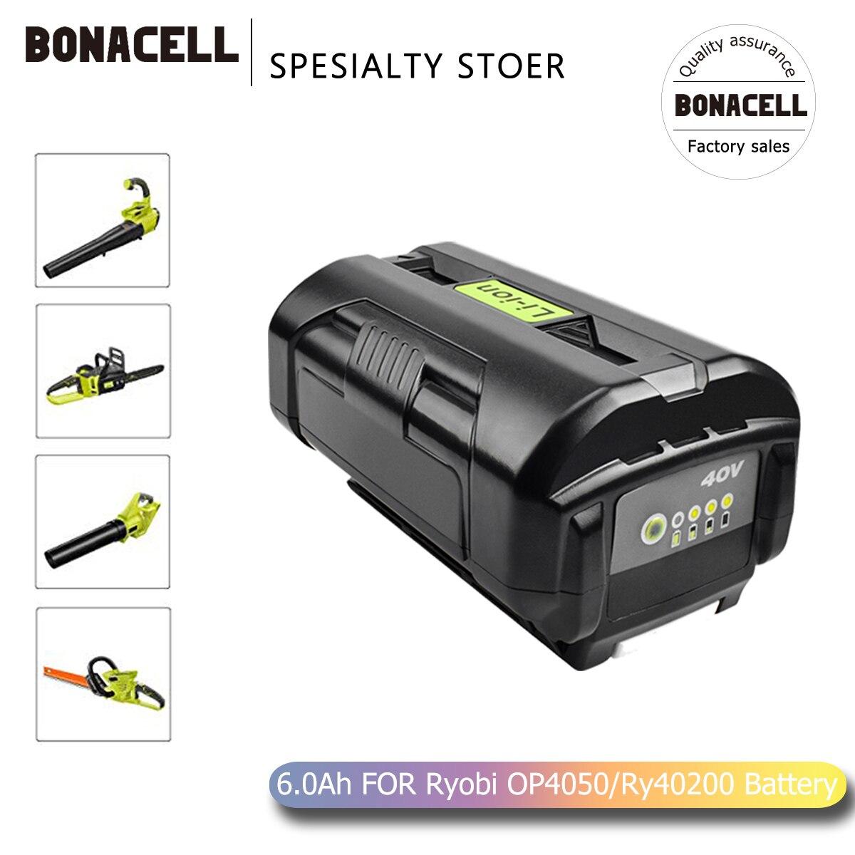 Bonacell 6000mAh 40V بطارية ليثيوم أيون OP40401 OP4050A ل Ryobi RY40502 RY40200 RY40400 استبدال البطارية L70