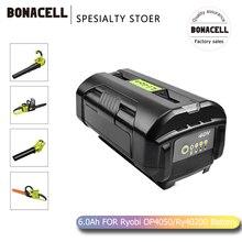 Bonacell 6000mAh 40V Li-ion Battery OP40401 OP4050A for Ryobi RY40502 RY40200 RY40400 Replacement Battery L70